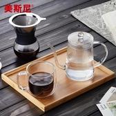 咖啡壺美斯尼掛耳咖啡手沖壺滴漏式長嘴細口壺煮沖茶器玻璃咖啡器具茶壺LX爾碩數位