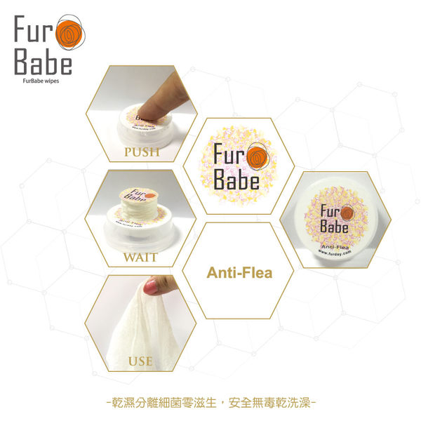 ★OBO CLUB HOUSE☆ FUR BABE 乾濕分離智慧功能紙巾 白柚驅蚤系列