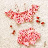 快速出貨-兒童泳衣公主嬰幼可愛韓國女孩溫泉寶寶大中小分體裙式1-3-4-79歲兒童泳衣