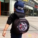兒童書包輪胎包旅行後背包寶寶幼稚園書包【聚可愛】