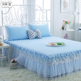 限定款鋪棉床罩組全棉舖棉公主蕾絲床罩床裙紗荷葉邊單件棉質加厚裙式180公分床套防滑保潔墊jj
