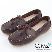 G.Ms. MIT情侶鞋系列-水洗牛皮帆船鞋*濃咖啡