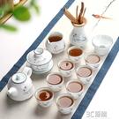 美閣喝茶功夫茶具套裝家用陶瓷整套白瓷蓋碗茶壺品茗茶杯茶道零配HM 3C優購