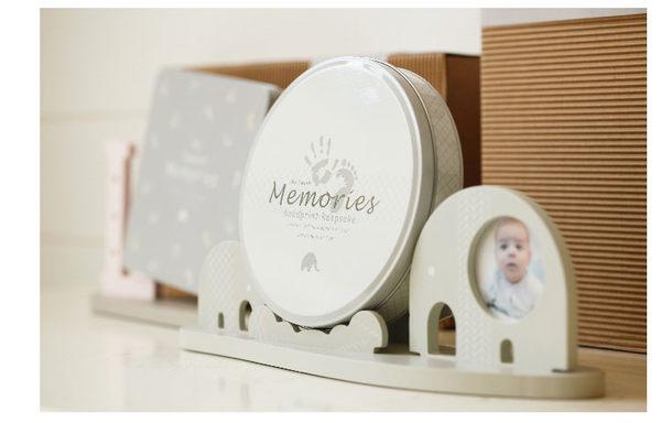 可愛紀錄寶寶足印手印成長相框 新生兒紀念套裝禮物4
