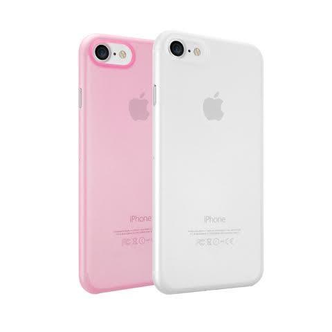 【漢博】Ozaki O!coat 0.3 Jelly 2 in 1 iPhone 7, 超薄保護殼2合1 , 霧透白/霧透粉
