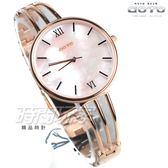 GOTO Marine 海洋系列 羅馬簡約時尚手錶 纖細手環錶 玫瑰金電鍍x粉貝 女錶 GS1096L-44-P41