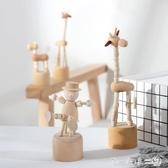 現代簡約木質動物擺件可愛動物小擺件創意客廳臥室兒童房間裝飾品 第一印象