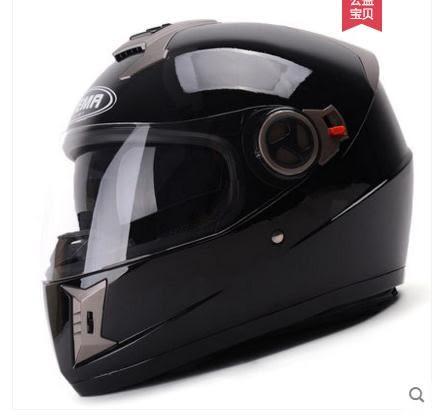 野馬四季電動摩托車頭盔男夏季個性機車全盔覆式雙鏡片 【熱賣新品】 LX