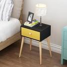 組裝抽屜式床頭收納櫃現代簡約臥室床邊收納櫃簡易儲物收納櫃WY