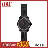 FOSSIL Tailor 全黑米蘭帶女錶 26mm ES4489