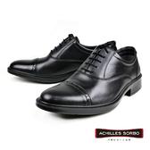 【Achilles SORBO】輕量真皮雕花德比紳士鞋  黑色(SRM282-BL)
