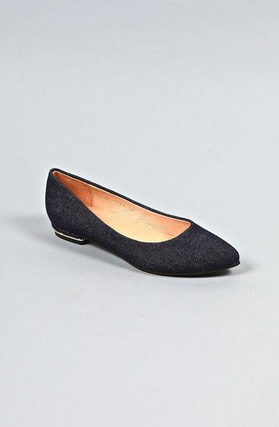 ALL BLACK 牛仔布平底鞋  (深藍)