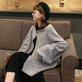 秋季2018新款韓版中長款BF風百搭寬鬆港風原宿針織開衫上衣外套女