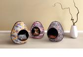 [寵樂子] 《IBIYAYA依比呀呀》摩登恐龍蛋寵物窩 FB1412 (3款)狗床/貓窩/寵物床