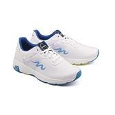 【南紡購物中心】【PUHU彪琥】超纖皮革輕量運動鞋-男款白藍