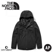 【The North Face 女 DryVent兩件式化纖防水外套《黑》】46IC/防水外套/保暖外套/防風外套