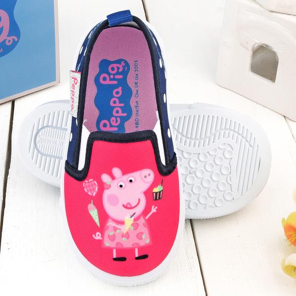 童鞋城堡-佩佩豬 中童 點點造型休閒室內鞋PG8509-桃/綠 (共二色)