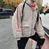 韓版面包服棉衣棉服男款外套冬裝潮流帥氣學生羽絨服加厚情侶  潮流衣舍