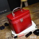 便攜漆皮化妝包 手提化妝箱收納整理包 女士旅行化妝品包 LC594【優品良鋪】