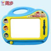 闊步畫畫板磁性寫字板寶寶嬰兒玩具3-6歲幼兒彩色大號兒童涂鴉板   HTCC