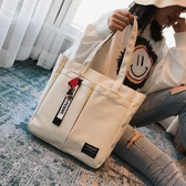 大包包帆布包包女2020新款日韓ins大容量大學生上課托特大包手提側背包 玩趣3C