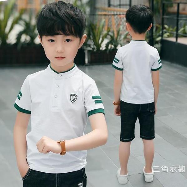 男童短袖t恤2020新品兒童短袖t恤夏季polo衫體恤上衣大童韓版潮童