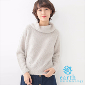 ❖ Hot item ❖ 舒適高領素面長袖針織上衣 -  earth music&ecology