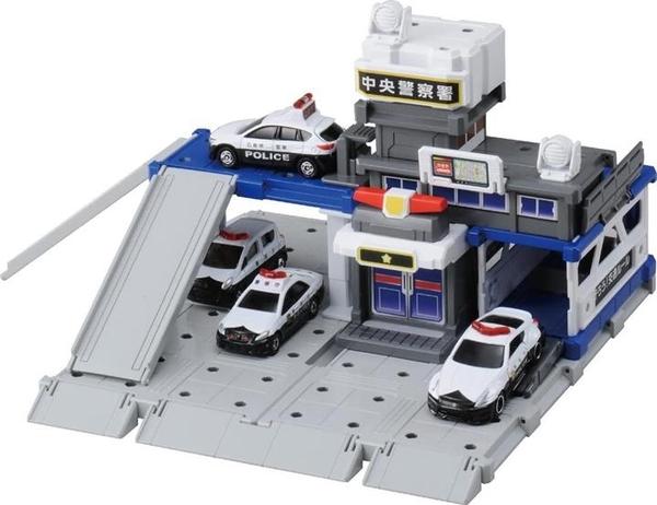 【日本代購】TOMICA 多美卡 托米察鎮 建設 城市警察局 玩具組