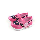 粉紅豬小妹 Peppa Pig 娃娃鞋 魔鬼氈 童鞋 桃紅/深藍 中童 PG8541 no812