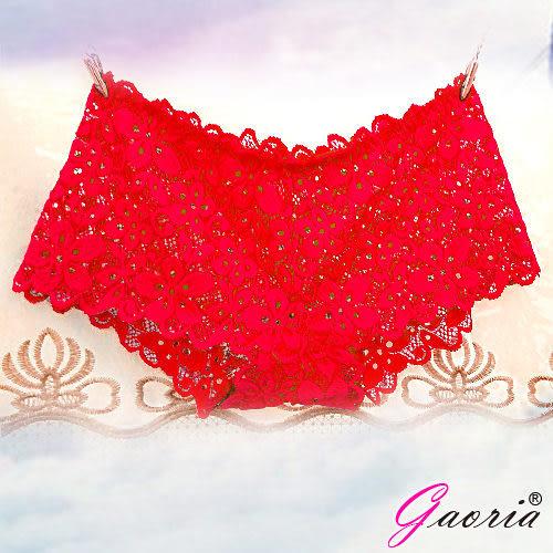 情趣男用內褲【Gaoria】想入非非 一片式 蕾絲款 冰絲無痕內褲 紅