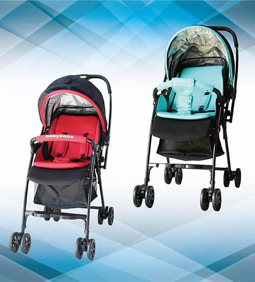 『121婦嬰用品館』babybabe 加寬超輕量雙向秒收車 藍/紅