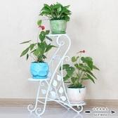 花架 歐式鐵藝創意多層綠蘿實木陽台客廳室內落地花盆架 - 古梵希