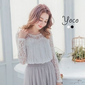 東京著衣【YOCO】自訂款小性感優雅蕾絲上衣-S.M(6004250)
