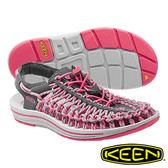 Keen UNEEK SLICE FADE 女 編織款拉繩涼鞋 深灰/粉紅 1014629