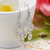 耳環 925純銀鑲鑽-高貴典雅生日七夕情人節禮物女飾品2色73dm159[時尚巴黎]