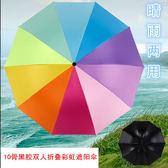雨傘超大傘面雙人摺疊彩虹傘用傘遮陽晴雨兩用傘 喵小姐