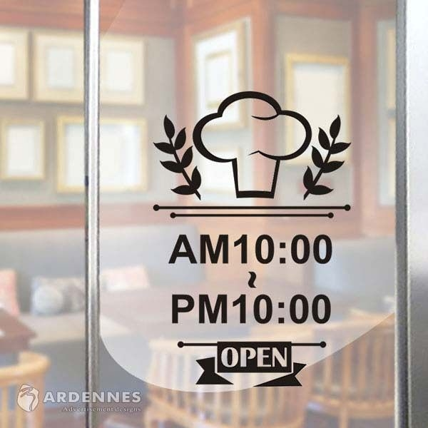 【ARDENNES】營業時間貼 / 開店時間 / 店面、公共場所 防水貼紙  PCT014香噴噴