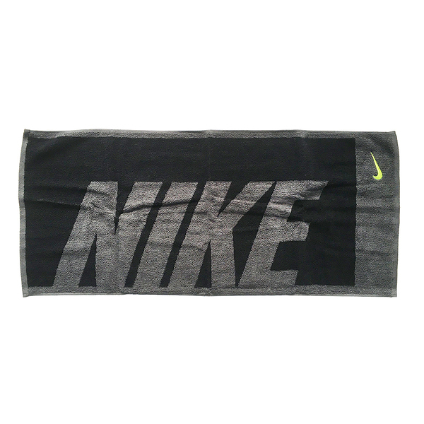 Nike Jacquard Towel 35x80cm [NTT81063MD] 運動 毛巾 吸汗 黑灰