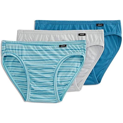 Jockey 創新Elance3件裝內褲(藍條紋/湖藍色/灰色)