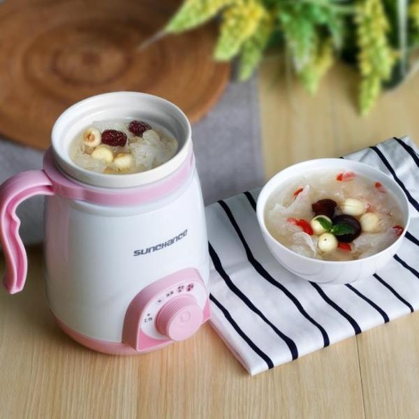辦公室養生杯陶瓷電熱水杯迷你旅行電燉杯煮粥杯燒水杯 NMS 黛尼时尚精品
