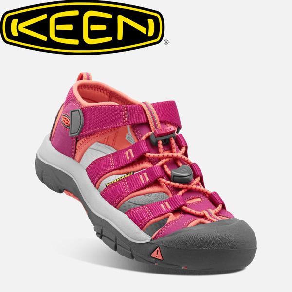 【KEEN 美國 兒童 護趾涼鞋《桃紅/橘》】1014251/水陸兩用鞋/休閒涼鞋/兒童涼鞋★滿額送