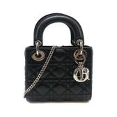 【台中米蘭站】展示品 DIOR Lady  Dior 小羊皮手提/斜背包-mini(-黑)