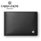 CARAN d'ACHE 瑞士卡達 CdA小牛皮紳士皮夾. 黑(10卡) / 個