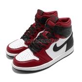 Nike Wmns Air Jordan 1 Retro High OG Satin Snake 黑 紅 女鞋 絲綢 蛇紋 籃球鞋 【ACS】 CD0461-601