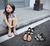 夏季水鑽防滑軟底露趾魔術貼女童涼鞋寶寶公主鞋兒童鞋子 俏腳丫