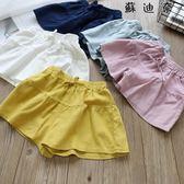 清涼棉麻裙褲  短褲子沙灘裙褲