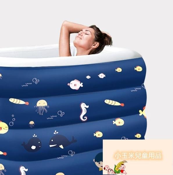 家用兒童可折疊充氣大型加厚游泳池嬰兒游泳池寶寶游泳池