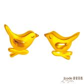 J'code真愛密碼-白鴿 純金耳環