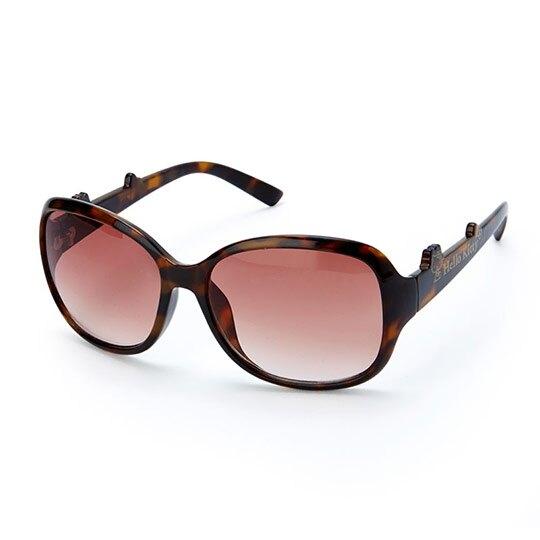 小禮堂 Hello Kitty 茶色鏡片抗UV太陽眼鏡 墨鏡 防曬眼鏡 (棕 2020夏日服飾) 4550337-31247