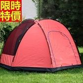 帳篷 露營登山用-戶外5-8人八角超大空間2色68u48【時尚巴黎】